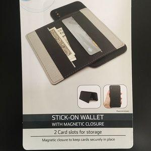 Phone Stick on Wallet Black